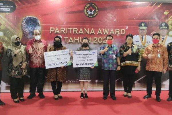 Sulut Raih Anugerah Paritrana Award Nasional 2020