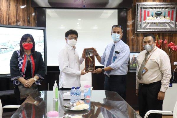 Kepala BNI Manado Aang Baru Audiensi dengan Walikota Manado