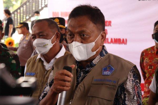 Gubernur Olly dan Kepala BNPB Lepas Puluhan Mobil Masker Untuk Sulut