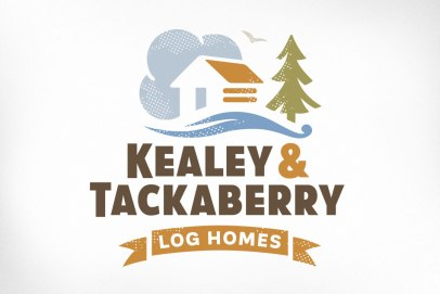 This Ottawa custom log home building company needed an updated logo and website in order to compete and excel in today's marketplace. They do this by emphasizing sustainability in a big way while building homes that are as energy efficient as possible. The logo is designed to represent both the traditional nature of the build as well as their creative and modern process. The new logo shows a seamless integration into the environment, a sense of living lightly, with a small carbon footprint. Website also designed at Sumack Loft: www.kealeytackaberryloghomes.com