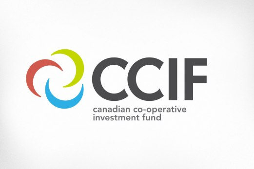 CCIF, the Canadian Co-operative Investment Fund, exists to support Canadian co-operatives and mutuals by providing development capital without compromising their autonomy. The logo was carefully designed to work well with the Co-operatives and Mutuals of Canada logo and to convey the notion of growth and partnership.