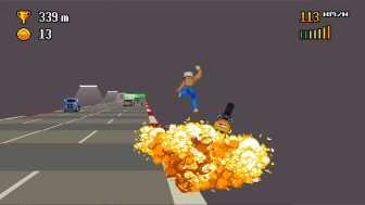 Retro Highway ぶつかった時の爆発エフェクトの細かいこと