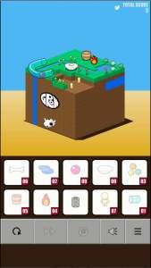 GROW CUBE Ω ゲーム画面