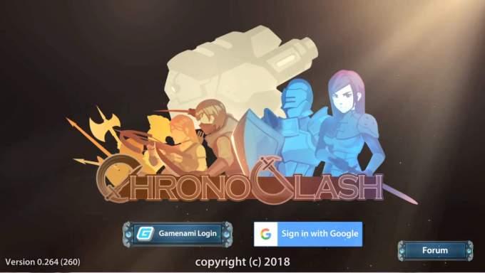 ChronoClash タイトル画面