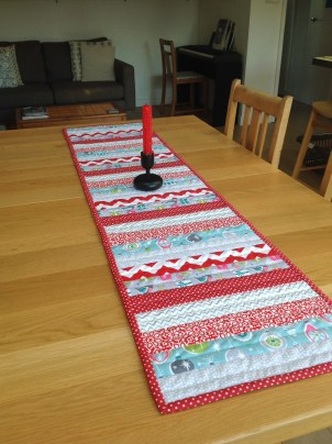 Festive quilted runner
