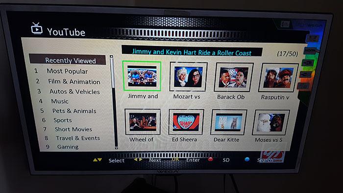 Dish Home YouTube Screen