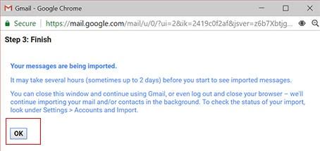 Backup Gmail Emails image for finish