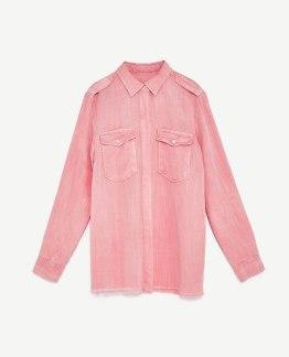Camisa estilo militar - Zara