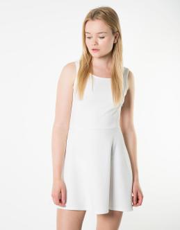 Vestido Skater blanco Shana