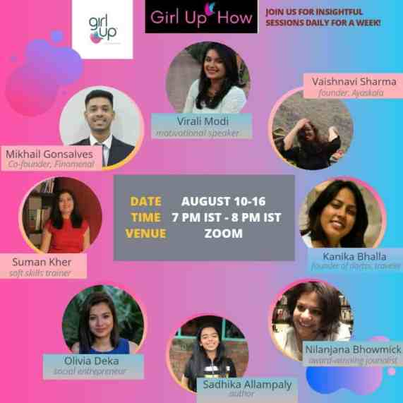The session on personal branding for Girl Up
