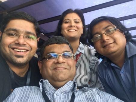 With Shakthi (center)