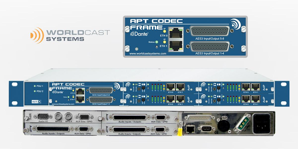 APT Dante Netzwerk Interface für Mehrkanal AoIP-Codec
