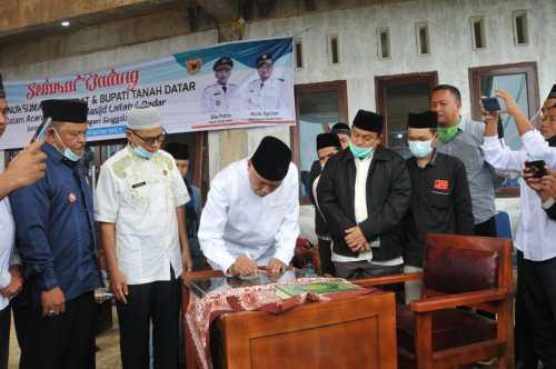 Masjid Lailatul Qadar Puncak Gunung Singgalang Diresmikan Gubernur Sumbar