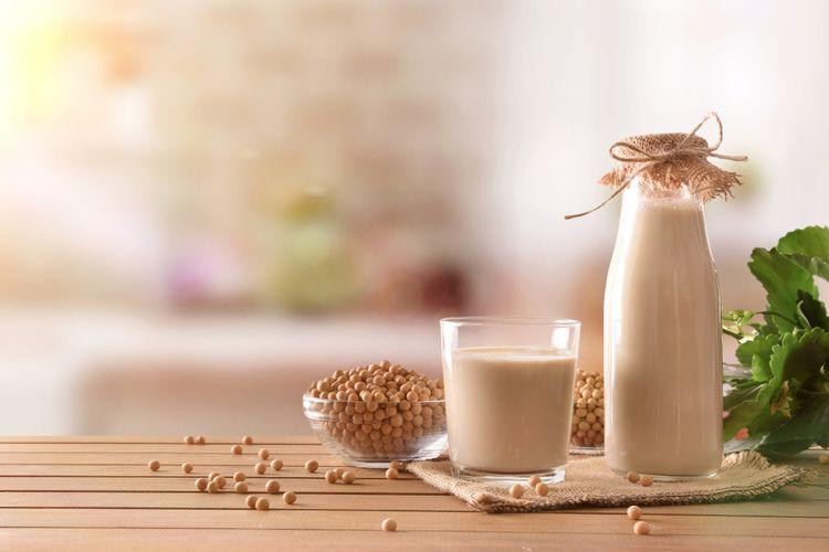 Ilustrasi susu kedelai untuk bikin tahu.