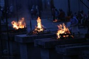 There is a huge cremation site by the river near the Pashupatinath temple