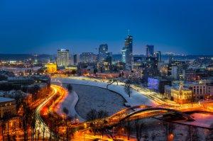 Wilno Sylwetka na tle nieba| Litwa