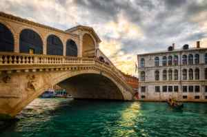 Zachód słońca na moście Rialto | Wenecja, Włochy