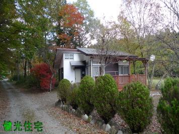 栃木県那須塩原市の中古別荘 赤いウッドデッキがお洒落な平屋 ...
