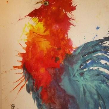 "Carol Waite ""Rooster Splash"""