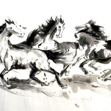 """Tiny Cholvibul """"Horses at Play"""""""