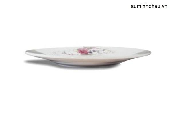 Đĩa bằng Minh Châu hoa D08H08