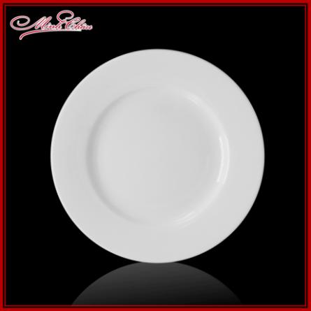 Đĩa bằng sứ Minh Châu trắng