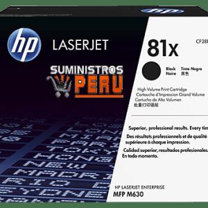 toner HP 81X, Cartucho de tóner original HP 81X LaserJet de alta capacidad negro (CF281X), Rendimiento de la página (blanco y negro) 25000 páginas