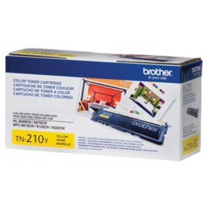 TONER BROTHER TN210Y , Color: Amarillo, Compatibilidad: HL-3040CN, HL-3070CW, MFC-9120CN, TN-210Y