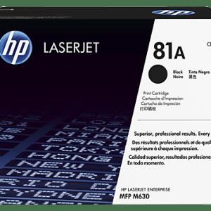 TONER HP 81A CF281A, TONER HP CF281A (81A) MFP M630 NEGRO 10.5K PAG