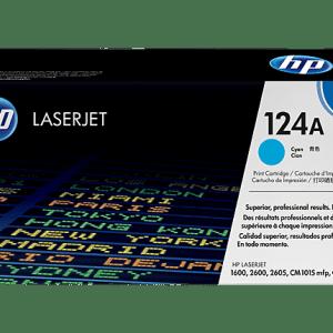 TONER HP 124A CYAN Q6001A, Color: Cian, Compatibilidad: HP LASERJET 2600N/2605/1600, Rendimiento: 2000 páginas.
