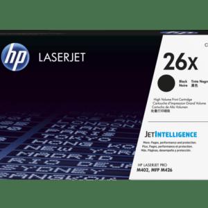 Toner HP 26X CF226X, Color: Negro, Compatibilidad: HP LaserJet Pro M402 series, HP LaserJet Pro MFP M426 series, Rendimiento: 9000 páginas.