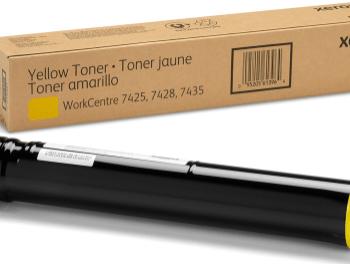 Toner Xerox 006R01400 Yellow Color: Amarillo, Compatibilidad: Xerox WorkCentre 7425/7428/7435, Rendimiento: 15000 páginas.