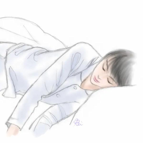おやすみ羽生結弦くんイラスト2