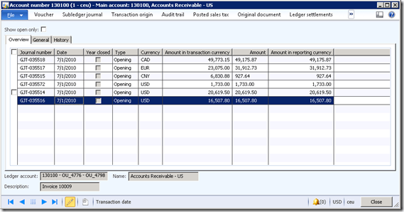 Getting Ledger transactions in Ax 2012 (2/2)