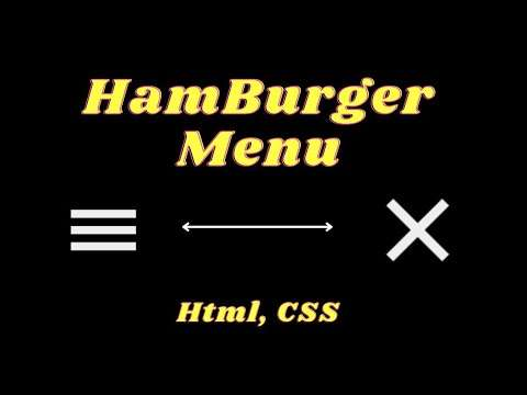 Hamburger Menu Animation With Html, CSS    D. CoDeS    #coding #html #css #projects
