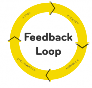 Feedback loop in social proof marketing