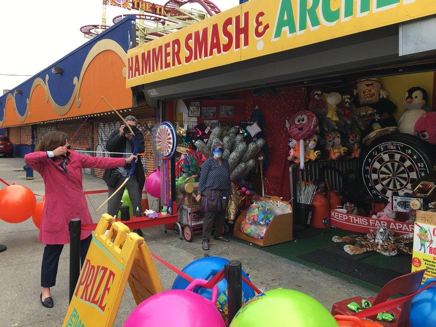 Kathy Hochul at Coney Island