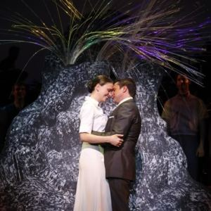 Sutton Foster and Raul Esparza in <i data-recalc-dims=