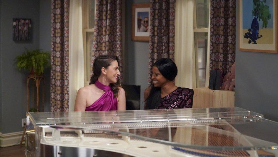 Sara Bareilles and Renée Elise Goldsberry in <i data-recalc-dims=
