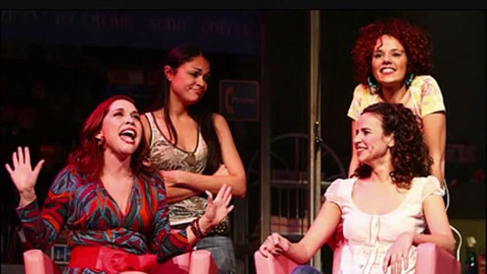 Andréa Burns, Karen Olivo, Mandy Gonzalez, and Janet Dacal in <i data-recalc-dims=