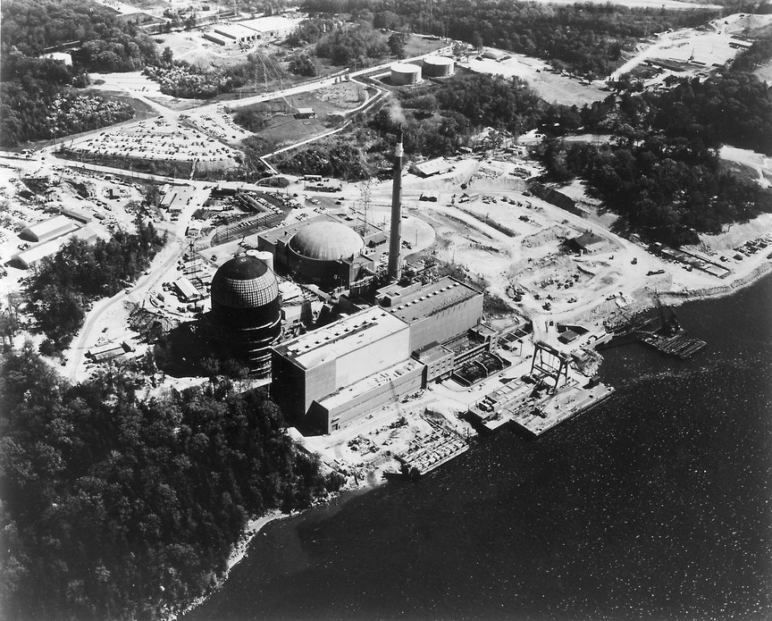 Indian Point nuclear power station, circa 1963