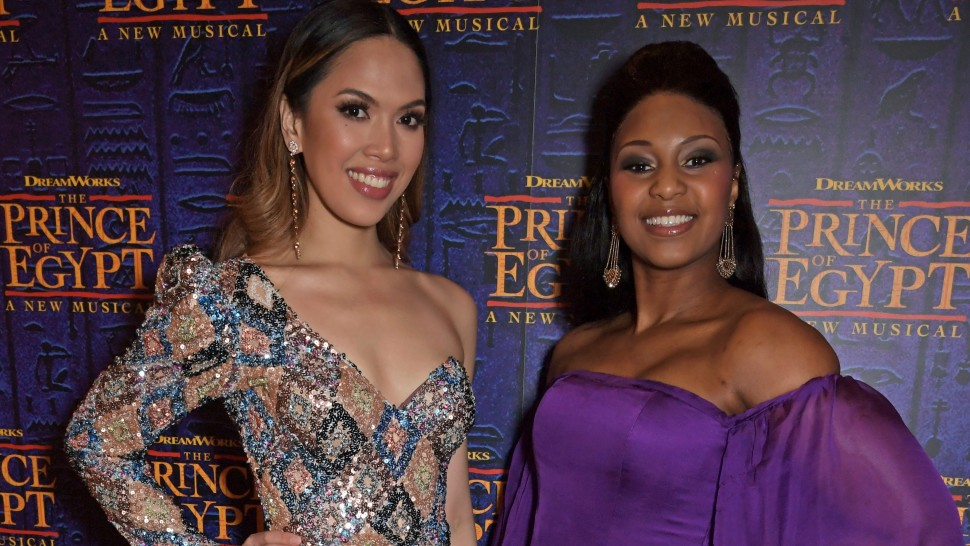 Christine Allado and Alexia Khadime at the Opening Night of The Prince Of Egypt, credit Dave Benett.jpg