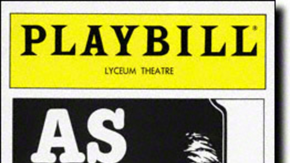 As Is Playbill - Opening Night, May 1985