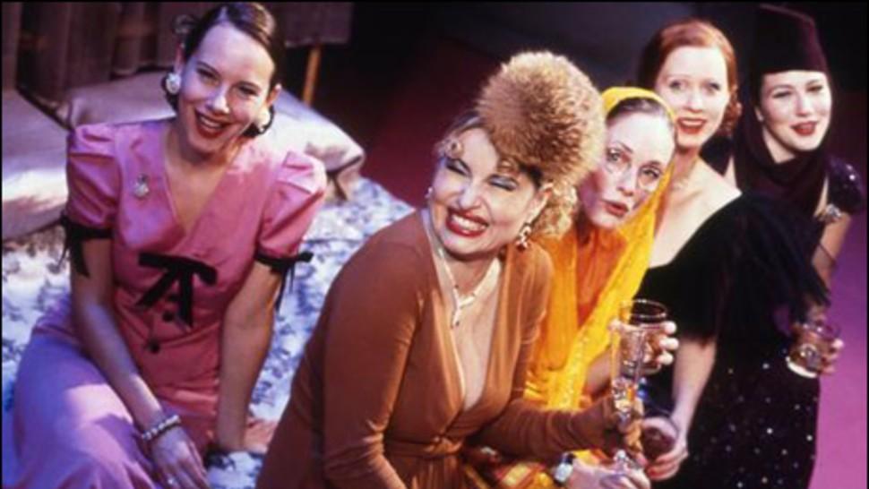 Amy Ryan, Jennifer Coolidge, Lisa Emery, Cynthia Nixon and Lynn Collins in Broadway's <i data-recalc-dims=