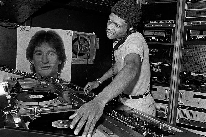 A photo of DJ Larry Levan at Paradise Garage