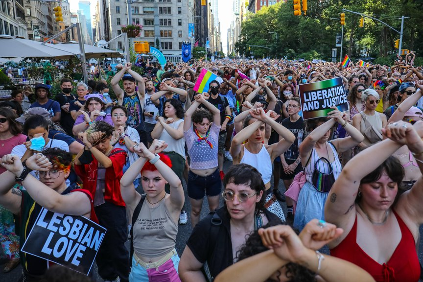Marchers at Dyke March 2021