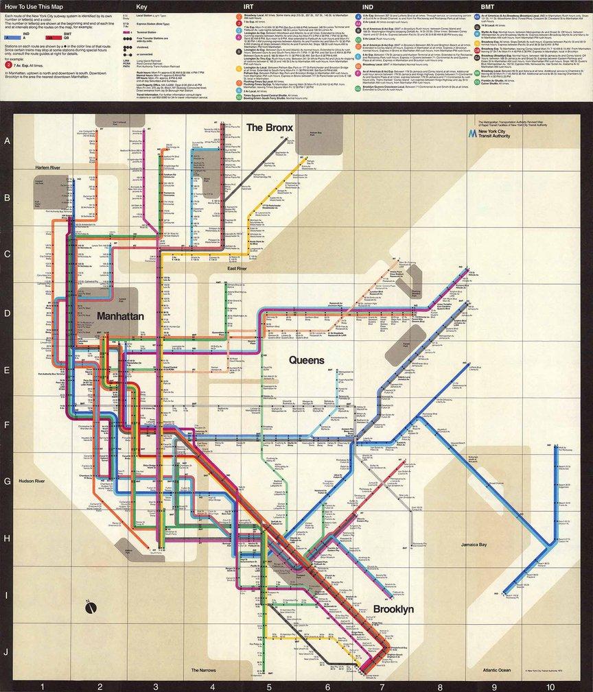 The Vignelli subway map