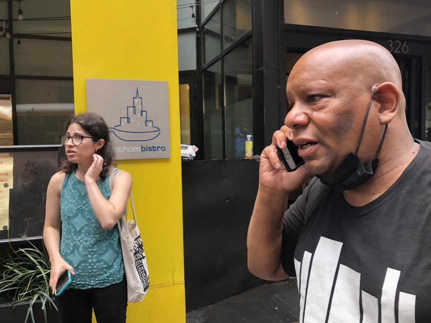 Shams DaBarron, a homeless rights advocate, spoke to Anthony Campbell over the phone who'd refused to leave his room.