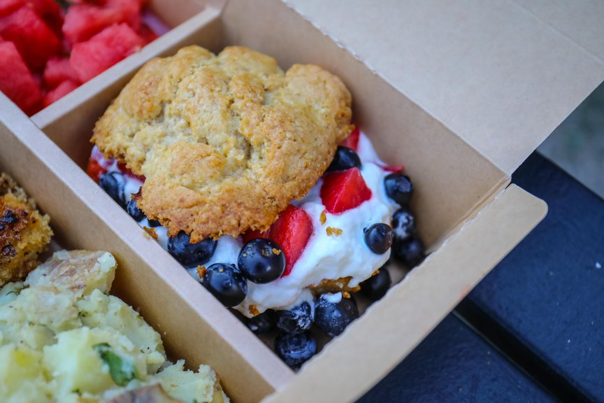 The strawberry-blueberry shortcake