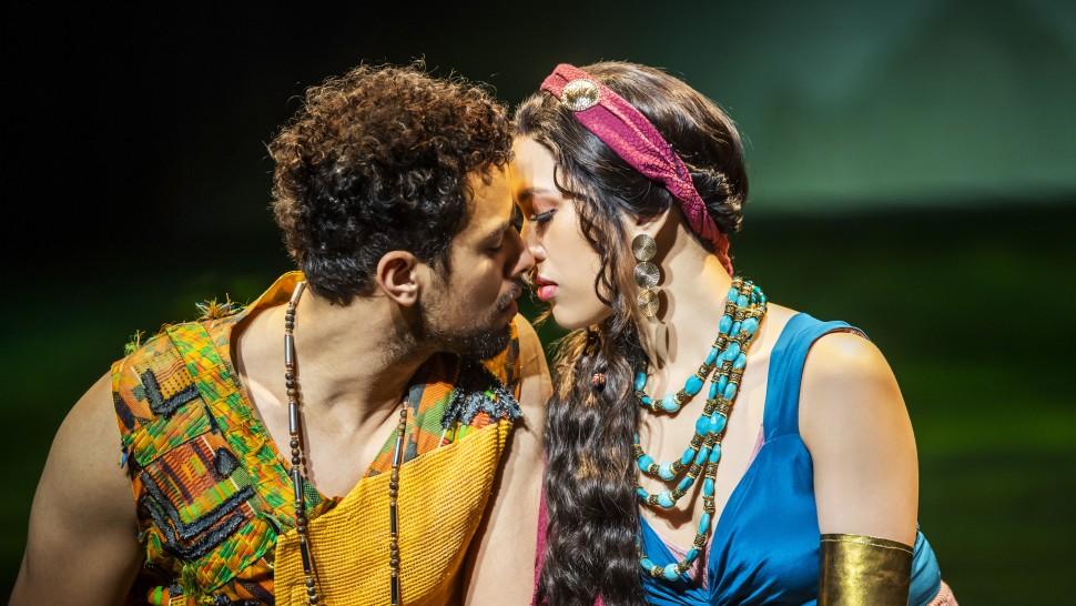 Luke Brady as Moses and Christine Allado as Tzipporah in The Prince Of Egypt, credit Tristram Kenton ©DWA LLC.jpg
